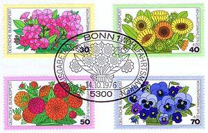 Rfa 1976: Jardin De Fleurs! Providence Nr 904-907 Avec Le Bonner Cachet Spécial 1a 153-afficher Le Titre D'origine