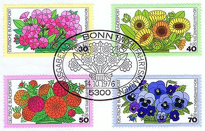 Bescheiden Brd 1976: Gartenblumen Wohlfahrt Nr 904-907 Mit Dem Bonner Sonderstempel 1a 1606 Freigabepreis