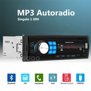 1-DIN-Autoradio-Bluetooth-MP3-Lettore-Stereo-Player-Auto-USB-TF-Slot-AUX-IN-FM