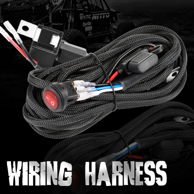 Wiring Harness Kit Led Light Bar Pods 40amp Relay Fuse On