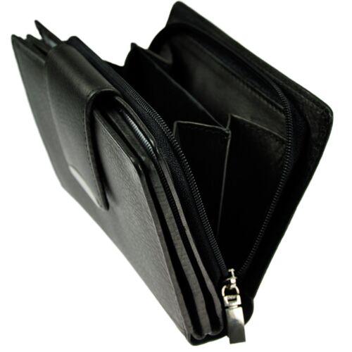 Damen Portemonnaie feines Rindleder 18 Fächer Geldbörse Geldbeutel Geldtasche