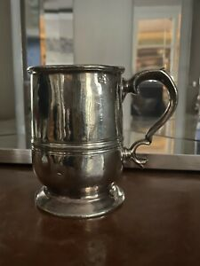 Fine-Antique-Polished-Pewter-Georgian-Mug-Tankard