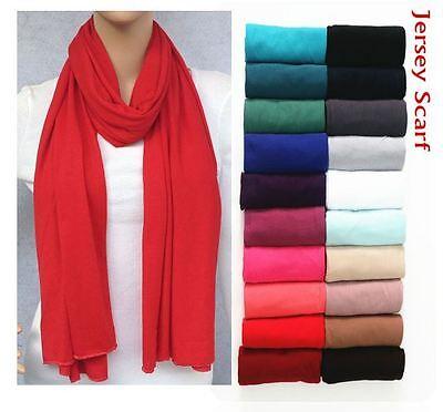 Latest Plain Large Jersey Stretchy Scarf//Hijab Lycra Maxi Scarf Wrap Shawl*Jrsrf