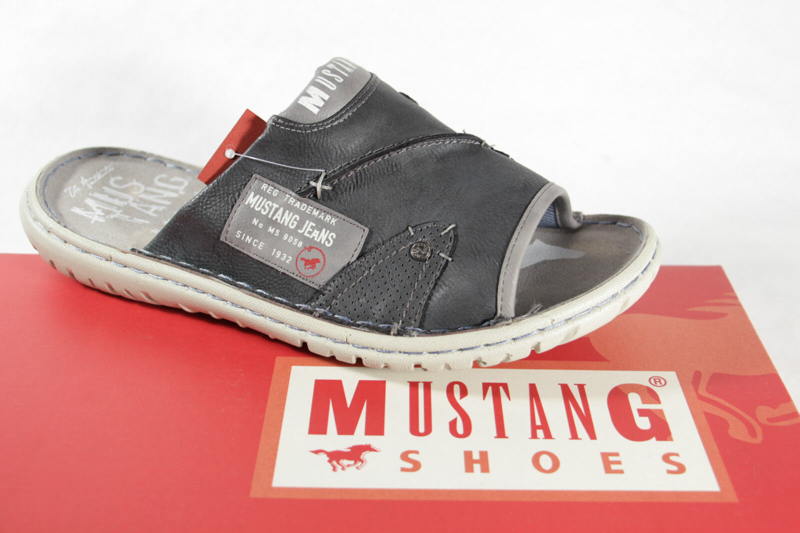 Mustang Men's Mules Mules Clogs Grey New