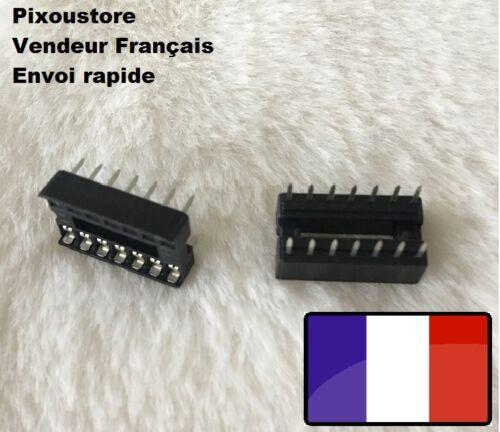 Lot de supports Lyre pour circuit intégré 14 broches lot au choix DIP 14 4-60