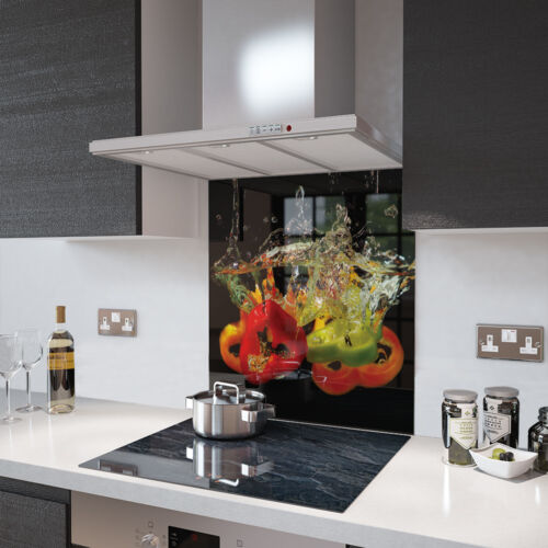 Peppers In Water Toughened Glass Splashback Various Sizes Resistant to 500°C