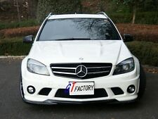 CARBON FRONT LIP SPOILER GH STYLE FOR MERCEDES BENZ W204 C63 AMG PRE FACELIFT