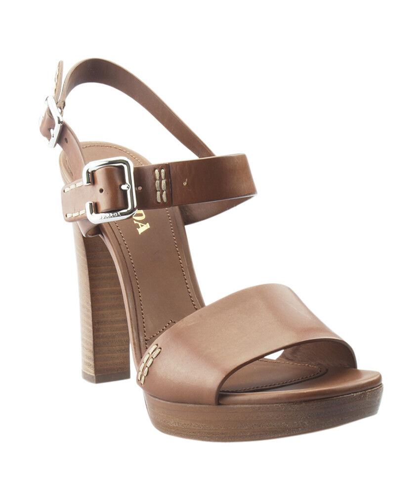 Prada Tan Pelle Heels, Size 41