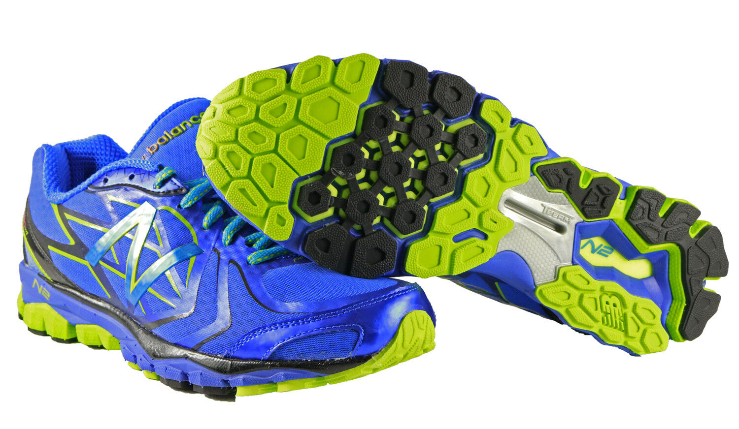New Balance Mens 1080BL4 Running Course shoes in bluee Black Lime