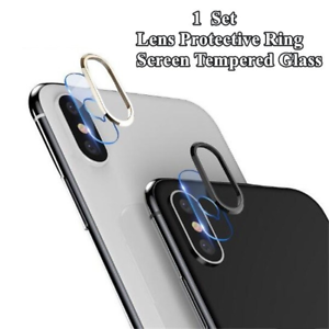 For-iPhone-XS-Max-8-7-Rear-Camera-Lens-Tempered-Glass-Film-Metal-Protective-Ring