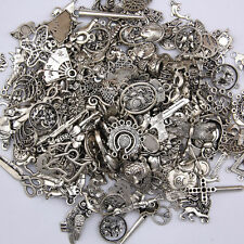 Wholesale 100g Antique Tibetan Silver Charms Pendants DIY Jewelry Craft Findings