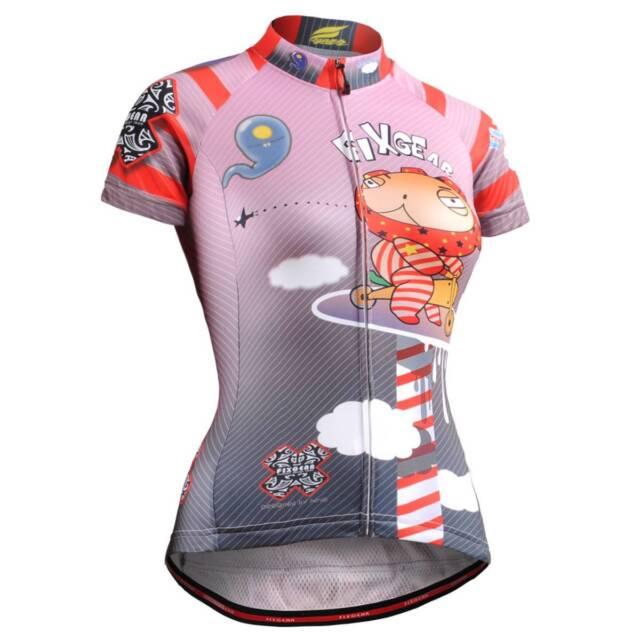 FIXGEAR CS-W1602 Women's Short Sleeve Cycling Jersey Bicycle Roadbike MTB