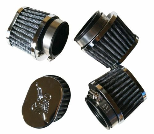 Four Oval Air Filter POD Filters Honda CB 750 CB750 C F K 1979 1980 81 82 54mm