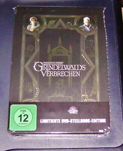 PHANTASTISCHE-TIERWESEN-GRINDELWALDS-VERBRECHEN-LIMITIERTE-STEELBOOK-DVD-NEU