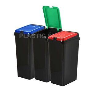 Top-Touch-rettangolare-45L-riciclare-i-rifiuti-Bidone-Spazzatura-Pattumiera-Rifiuto