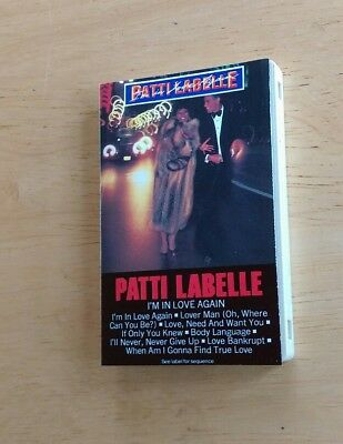 Vintage cassette Patti Labelle Im In Love Again Lover Man Bankrupt