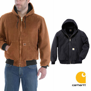 Carhartt Men's Jacket - Quilt Flannel Lined Sandstone ...