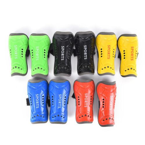 Kids Child Soft Football Shin Pads Soccer GuardSport Leg Skin Guards-Protect E/_P