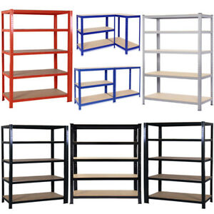 L-XL-Extra-Large-Garage-Shelving-Racking-Unit-Storage-Shelf-Metal-amp-MDF-Boltless