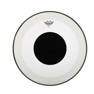 Remo Powerstroke 3 Clear 22-inch Bass Drum Head Black Dot NEW