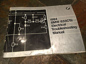 details about 1984 bmw e24 633csi 633i electrical troubleshooting wiring diagram manual Schematic Circuit Diagram