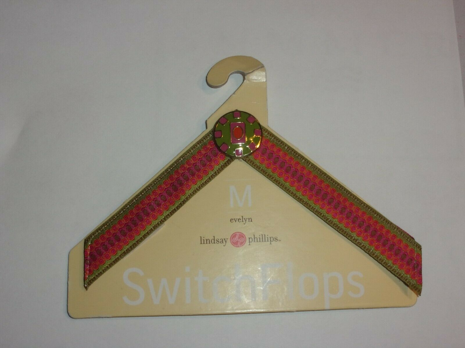 Lindsay Phillips SwitchFlops interchangeable strap Evelyn M new on card