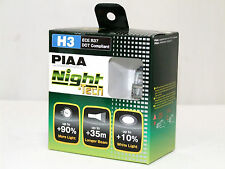 Piaa 3600K 55w=110w Night Tech H3 Halogen Fog Light Bulbs A