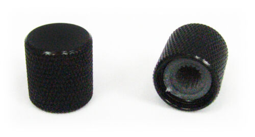 2pc. Black Flat-Top Knobs for Guitar, Cigar Box Guitar & more!