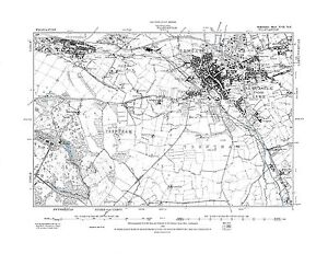 Old Map of Newcastle under Lyme Staffordshire in 1889 Repro 17