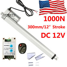 1000n Linear Actuator 12 Stroke Dc 12v 220lbs Lift With Motor Controller Brackets