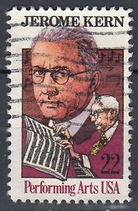 Estados unidos sello con sello 22c Jerome Kern Performing Arts/12