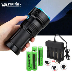 Super-Bright-45000Lm-12X-T6-Tactical-Flashlight-Camping-Lamp-Torch-18650-Charger