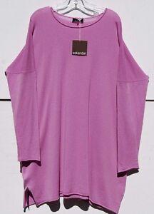 """d182a1efc88 Details about NWT Eskandar LILAC Cashmere Bateau Neck 36"""" Long Tunic Sweater  O/S $1545"""