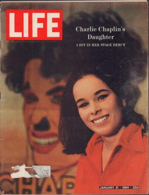 LIFE January 31,1964 Geraldine Chaplin / Appalachia / Bobby Hull / The Beatles