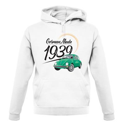 Hergestellt in Deutschland 1939-Käfer Kurzarm Babybody//Strampler PKW Auto Car