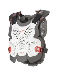 2021 ALPINESTARS A1 PLUS CHEST PROTECTOR WHITE RED ADULT BODY ARMOUR MOTOCROSS