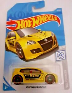 Mattel-Hot-Wheels-Volkswagen-Golf-GTI-Amarillo-Nuevo-Sellado
