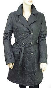 magasin en ligne grande collection large choix de couleurs et de dessins Détails sur Manteau trench imperméable froissé DDP noir femme léger taille M
