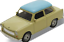 Trabant-601-reunidos-escala-1-34-metal-pull-back-original-Welly-puertas-para-abrir miniatura 4