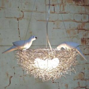 Birds nest chandelier aluminum ceiling light pendant lamp led image is loading bird 039 s nest chandelier aluminum ceiling light mozeypictures Images
