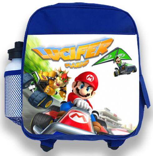 Personalised Kids Backpack Any Name Mario Boys Childrens School Bag 5