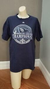 Tampa Bay Rays T Shirt Champions (Navy)(XL)