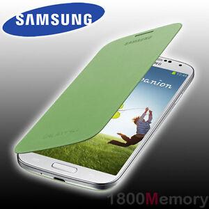online retailer 5e2b8 df989 Details about GENUINE Samsung Galaxy S4 Flip Cover Case GT-i9500 i9505  i9506 i9507 i9508 Green