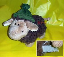 """Peluche Plush - NICI Pecora con berretto, Brown sheep - 15 cm. 5,9"""" - USED"""