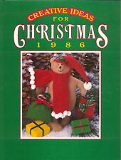 CREATIVE IDEAS FOR CHRISTMAS  BOOK 1986  CRAFTS