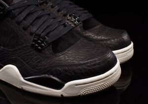 6e71e8180de7 Authentic Nike Air Jordan Retro 4 Premium Pony Hair Black Pinnacle ...