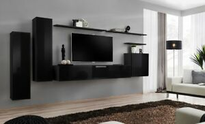 Details about Shift 1 - black living room wall unit / entertainment center  for 55 inch tv