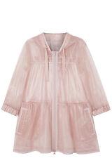 NWOT Red Valentino Sheer Glossy Nylon Tulle Parka Jacket Pink Sz 40 (small)