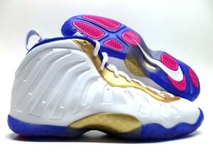 327a1b558fb00 NIKE LITTLE POSITE ONE (GS) WHITE RACER BLUE SIZE 7Y WOMEN 8.5 ...