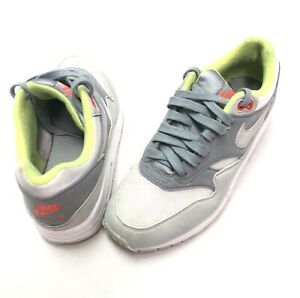 official photos 965f8 f7942 Image is loading Nike-Air-Max-1-Neon-White-Grey-Volt-